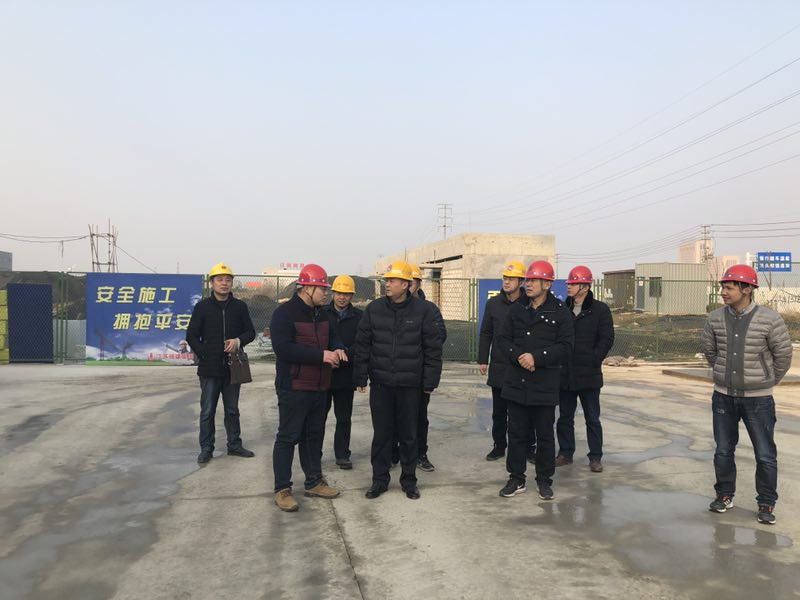 市建设局成自勇副局长一行视察临港产业孵化基地项目